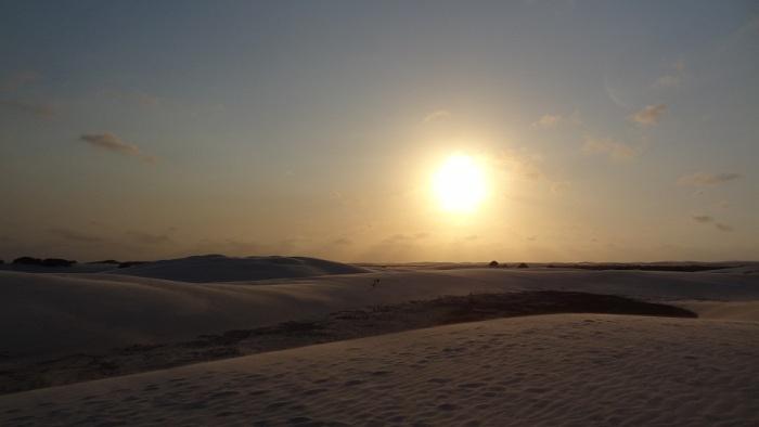 Por do sol dunas