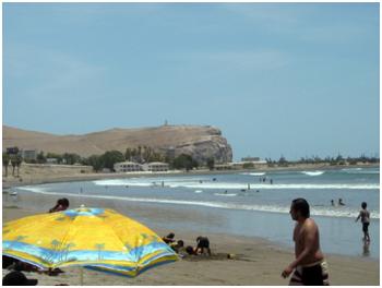 A Praia de Arica.
