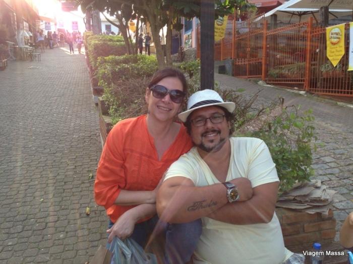 Elaine e Jean em Embu