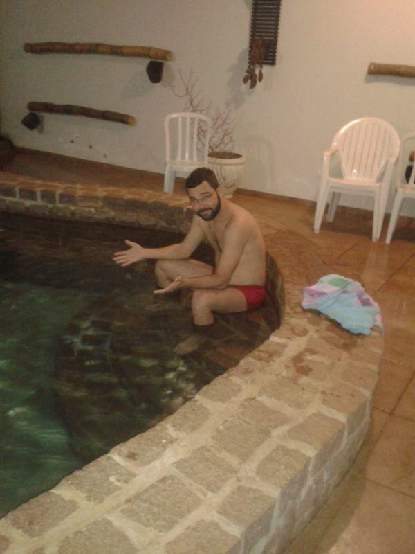 piscina de água quente